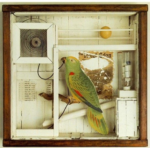 Joseph Cornell, The Hotel Eden, 1945  Have seen some of his work at the National Gallery. So engaging.