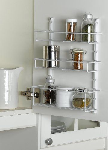 ClosetMaid Kitchen Spice Rack, White #3996 - http://spicegrinder.biz/closetmaid-kitchen-spice-rack-white-3996/