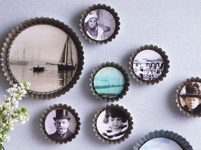 des moules à gâteaux transformés en une multitude de cadre photo ou comment donner du volume à nos images par Katja graumann