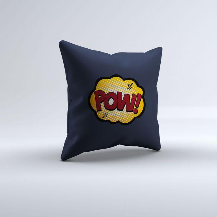Best Throw Pillow Covers Part - 42: Blue Superhero Pow Throw Pillow
