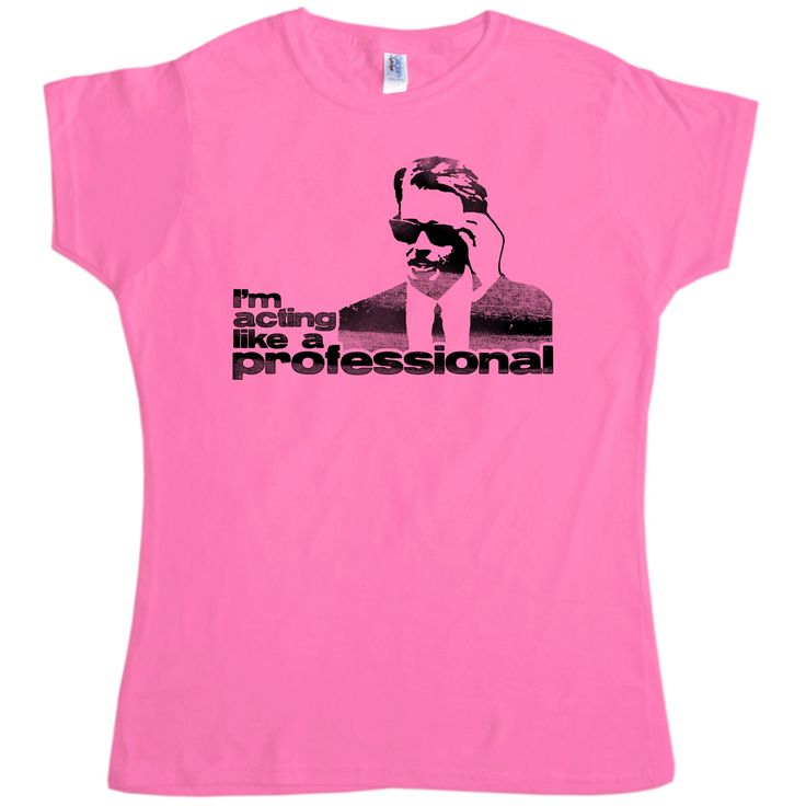 With this ladies tee you can let people know that you are acting like a professional just like Mr. Pink (Steve Buscemi). This tee is inspired by the superb Quentin Tarantino film Reservoir Dogs. We love Mr Pink and if you agree then this is the one for you! Ladies classic fit cotton unofficial Pulp Fiction inspired t-shirt.