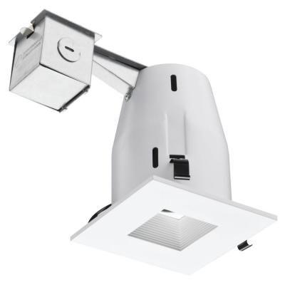 lithonia lighting 4 in matte white recessed square lamped led lighting kitlk4sqmw led