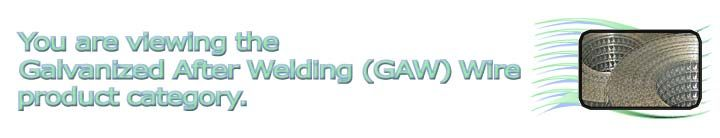 galvanized after welding wire