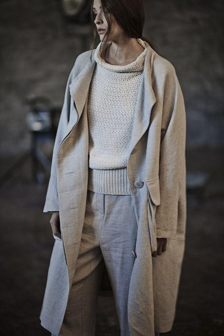 Купить ПАЛЬТО ЯПОНИЯ ЛЕН подкладка от Lesel (Лесель) российский дизайнер одежды