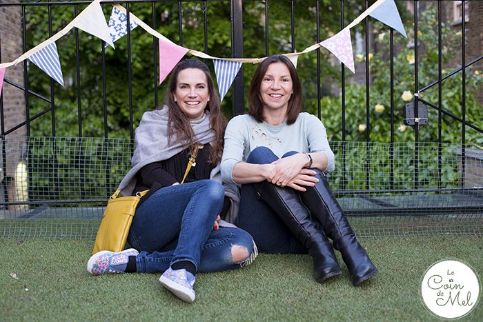 Blogger 'Le Coin De Mel' (left) wearing her Carolina Hotter bag. http://lecoindemel.com/chorizo-cod-kebabs-and-a-bbq-masterclass-freefrombbqs/