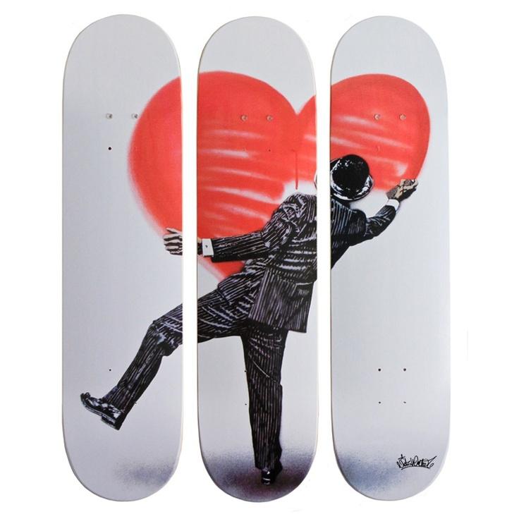 """Nick Walker """"Love Vandal"""" New Skate Decks Available Now! StreetArtNews"""