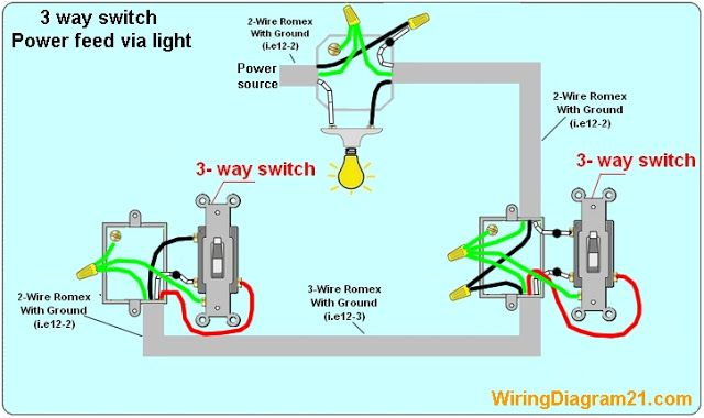 3 Way Switch Wiring Diagram  Avec Images