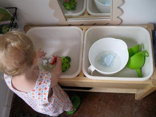 Montessori Messy: Her Own Little Sink: Self-Care and Washing Up