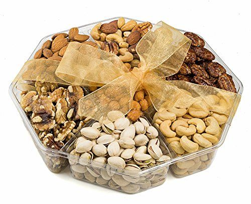 Farm Fresh Nuts Gift Basket Freshly Roasted Nut Tray Gourmet Gift Platter 7Section 1 LB * Check out this great product.Note:It is affiliate link to Amazon.
