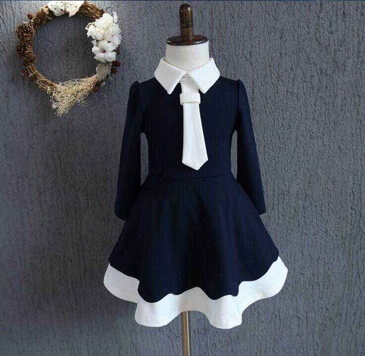 $95.00 (Buy here: https://alitems.com/g/1e8d114494ebda23ff8b16525dc3e8/?i=5&ulp=https%3A%2F%2Fwww.aliexpress.com%2Fitem%2F2016-Autumn-New-Girl-Dress-Marines-Style-Tie-Long-Sleeve-Princess-Dress-Children-Clothing-8106%2F32730106858.html ) 2016 Autumn New Girl Dress Marines Style Tie Long Sleeve Princess Dress Children Clothing 8106 for just $95.00