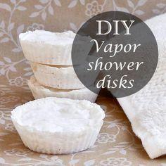 Make your own all-natural vicks vapor shower disks. Great for flu season!