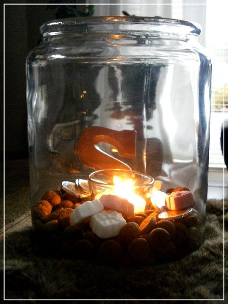 tealight in a jar