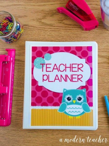 Teacher Organization! Teacher Binder, Teacher Planner, lesson planning templates, CCSS, TEKS, all editable, all in an Owl theme! $
