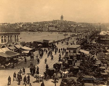 across the Golden Horn to Galata c1880s by Abdullah Freres