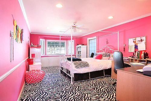 : Dreams Bedrooms, Zebras Rooms, Pink Zebras, Dreams Rooms, Pink Rooms, Dreams House, Zebras Prints, Pink Bedrooms, Girls Rooms