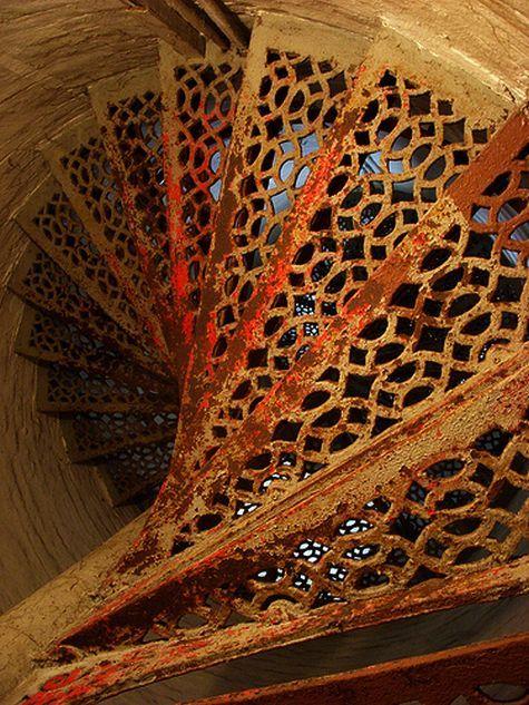 rusty lace stairs . . beautiful