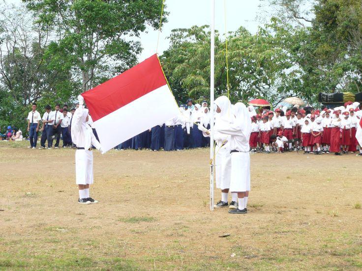 #bendera #indonesia, Upacara Bendera