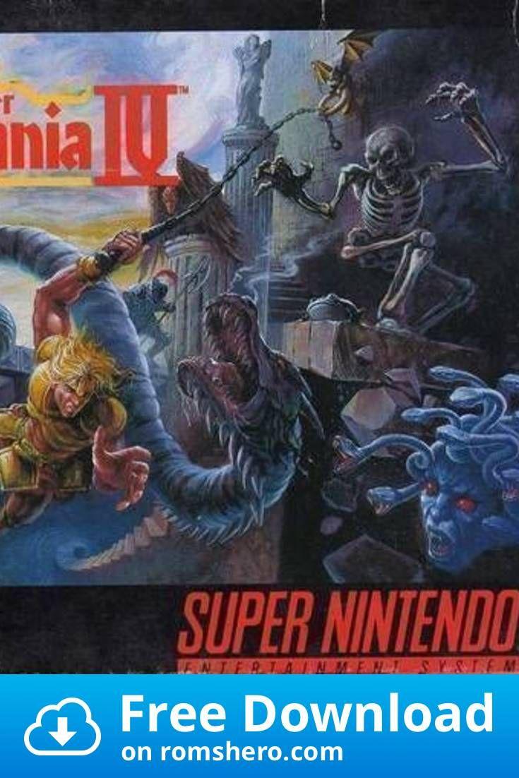 Download Super Castlevania Iv Super Nintendo Snes Rom In 2020