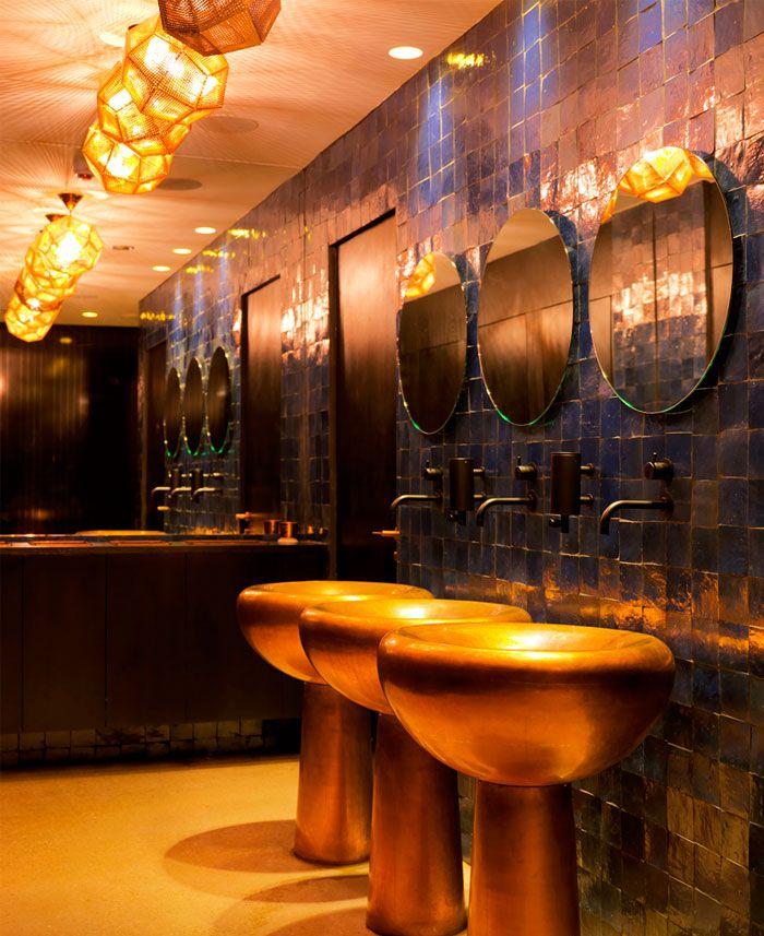 Restaurant With Parisian Chic Decorating//Tom Dixon
