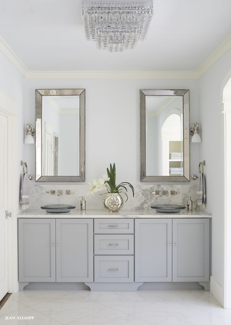 Gray vanity. #bathroom #design