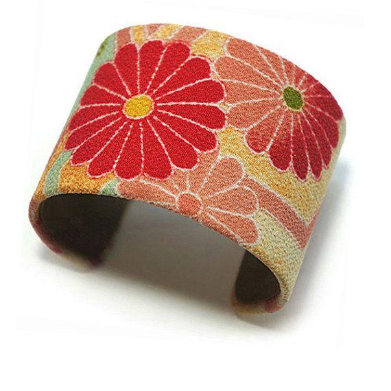 Kimono fabric handmade cuffs