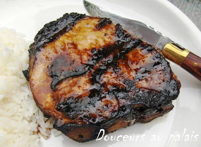 Douceurs au palais: Côtelettes de porc au miel