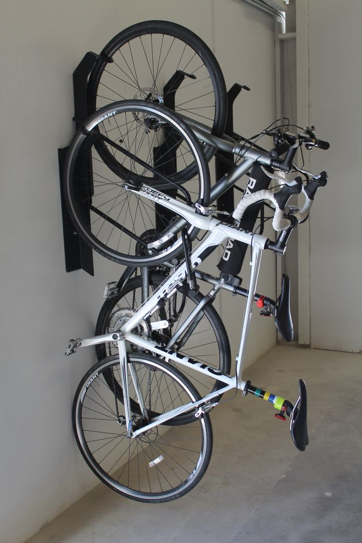 Park A Bike Vertical Offset Bike Rack 06 Commercial