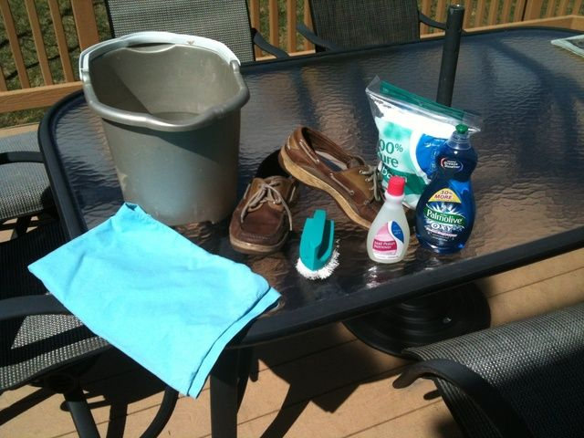 How to clean your Sperry Top Siders: All supplies but the laundry machine and laundry detergent