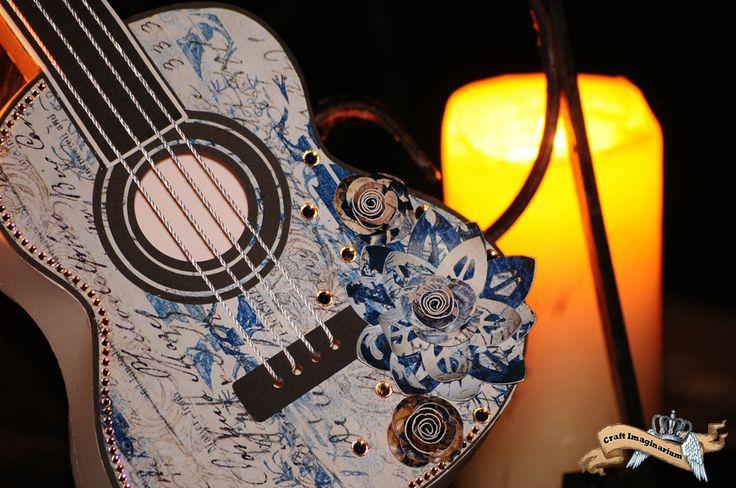 Guitar blue white 2