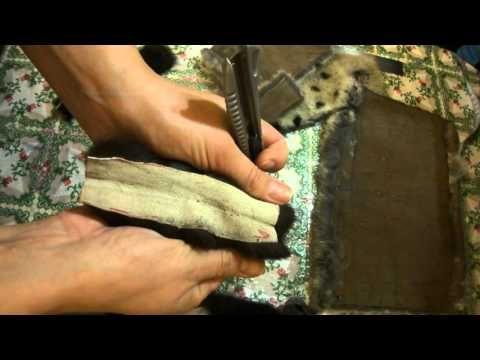 Рукавицы из норки. Урок 4: БОНУС ! Как резать натуральный мех.