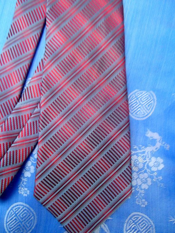 Givenchy vintage tie twill silk blue and red by CHEZELVIRE on Etsy, $10.00