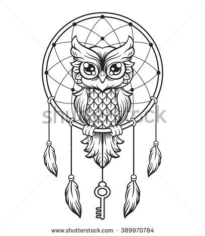 Dream Catcher Outline 30 Best Free Printable Owl Outline Tattoos Images On Pinterest  Owl