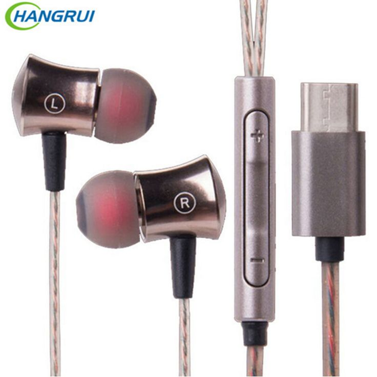Original Letv Earphone Bass type-c Earphone Headset With wire control Mic For All letv 2 letv 2pro Letv Max 2 Type c Smartphone