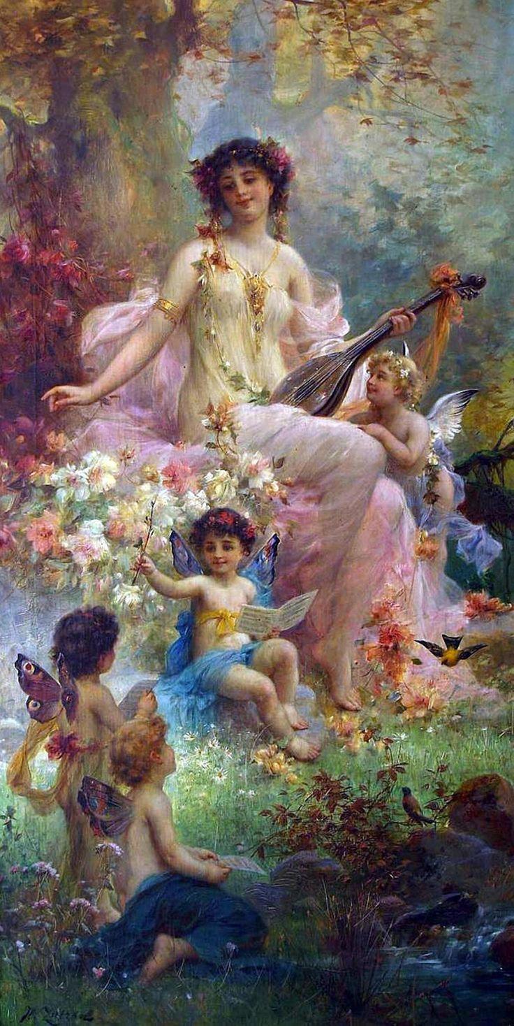 The Fairy Hans Zatzka Paintings Art..