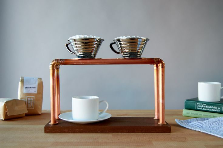Making a DIY Pour Over Coffee Stand for Fun and Profit   Man Made DIY   Crafts for Men   Keywords: coffee, pour-over, brewing, copper