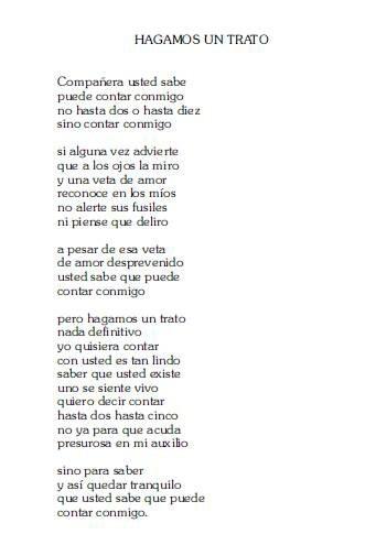 —Mario Benedetti Poema favorito, no hay más.