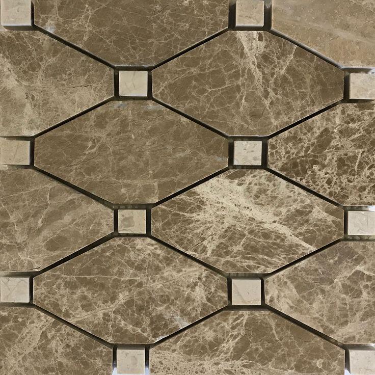 Boliche Mosaic Tile Emperador Light Beige Marble Polished