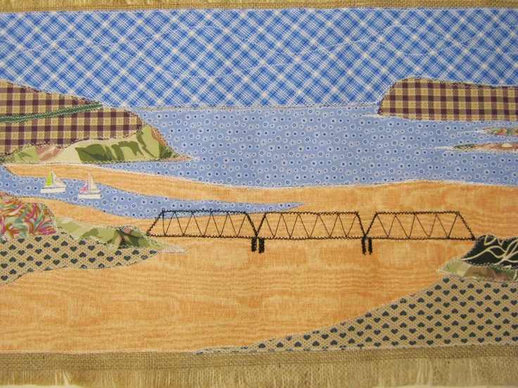Detail of camel estuary bed runner.