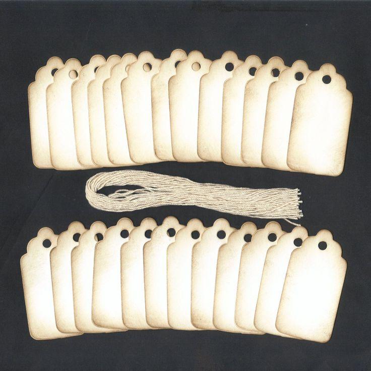 Look Scallop Top Hang Tags Wedding Shower, Favor Bag Tags, DIY Tags ...
