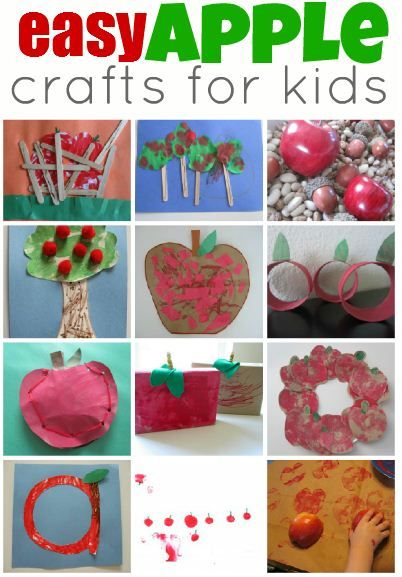 Pinterest Pin of the Week: Easy Apple Crafts for Kids Pinned by @PediaStaff. - Please Visit http://ht.ly/63sNt for all our pediatric therapy pins