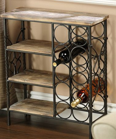 I love that this wine bottle holder has multiple shelving units, possibly for other bottles we have... $129.99 Wine Bottle Table #zulilyfinds