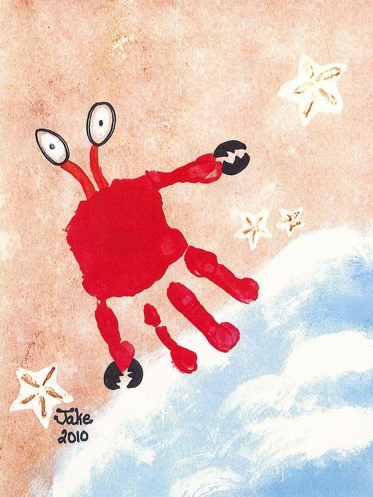 Crabby Hand 57 best PreSchool Art for