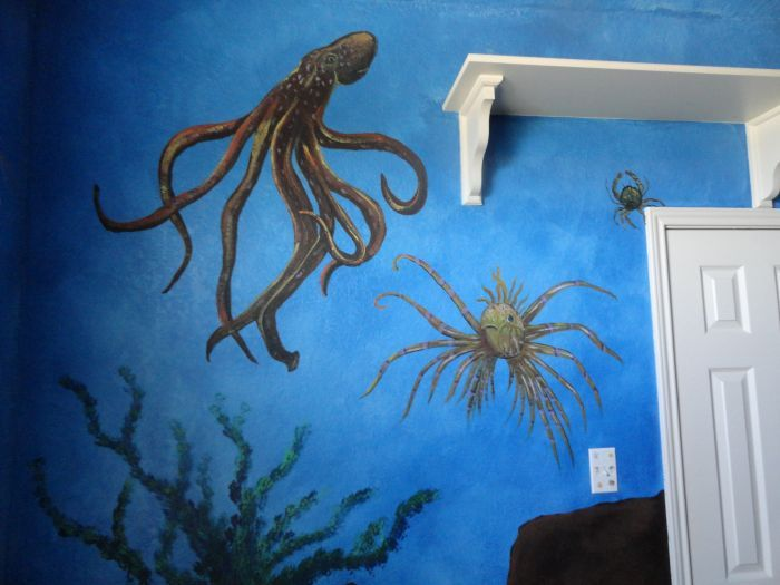 17 best images about rylan 39 s under the sea room ideas on for Underwater mural ideas