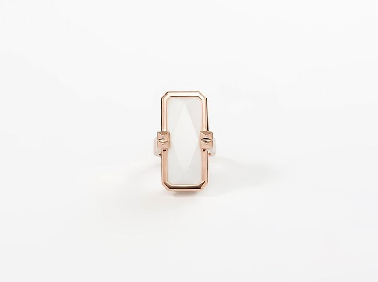 VINAYA ALTRIUS Cleopatra Ring Rose Gold & White