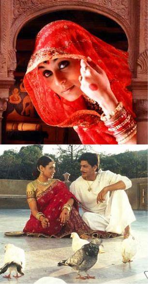 The stunning Rani Mukerji seen with Shah Rukh Khan in director Shyam Benegal's Paheli. #Bridelan