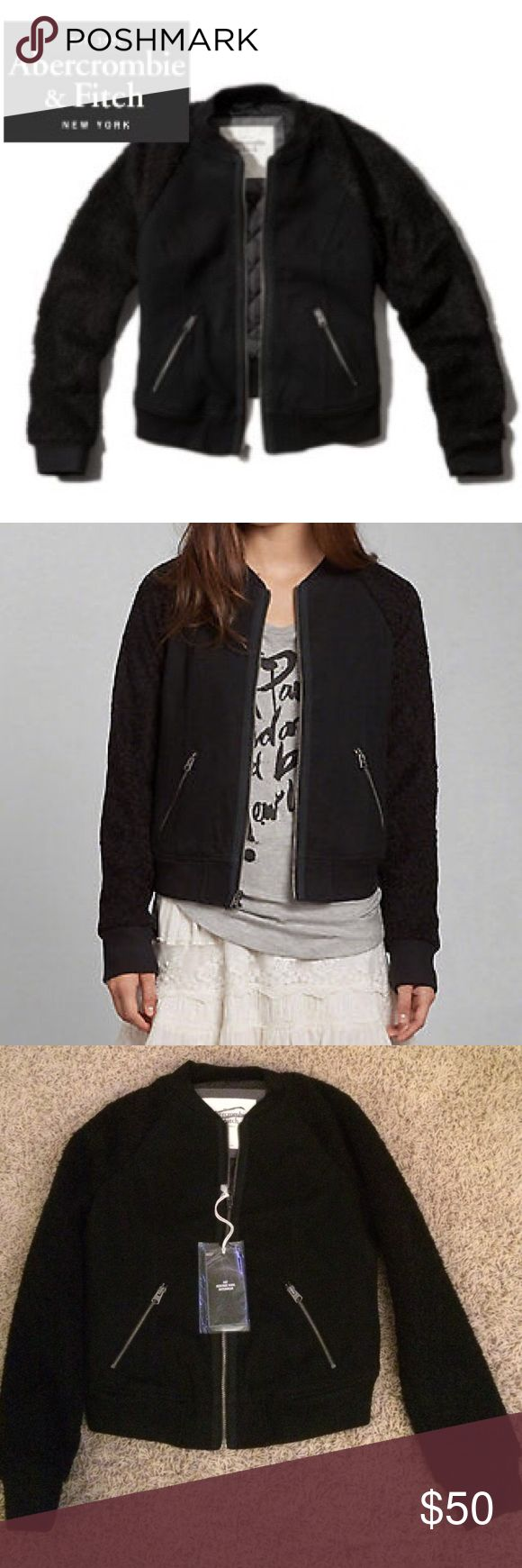 New Abercrombie and Fitch Shannon Bomber Jacket Abercrombie and Fitch Heritage Wool Shannon Bomber Jacket •New with tags •Size Small •Offers are welcome 🎉  Check out my other listings- Nike, adidas, Michael Kors, Coach, Wildfox, Victoria's Secret, PINK, Under Armour, True Religion and more! Abercrombie & Fitch Jackets & Coats Utility Jackets