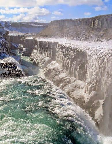 Gullfoss, Iceland. #Travel #Iceland @travelfoxcom