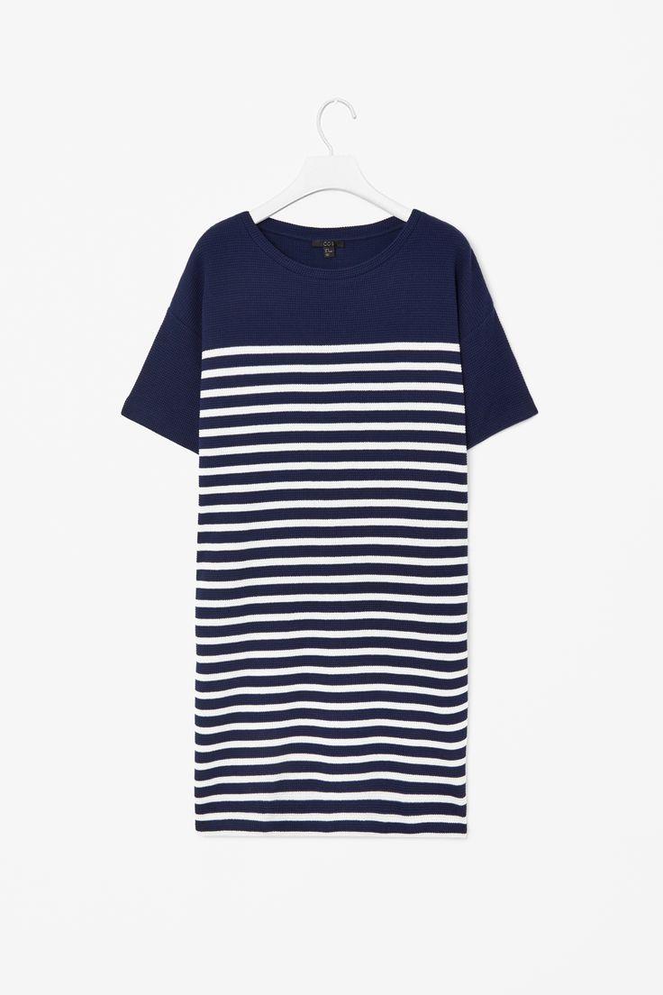 Textured striped dress