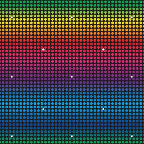 Disco feest scenesetter 9 meter. Jaren 70 disco stijl muurdecoratie van ongeveer 121 x 915 cm groot.