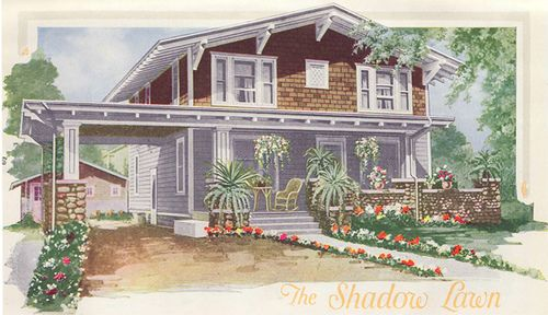 Aladdin 1920 shadow lawn kit home the shadow lawn is a for Chalet style home kits